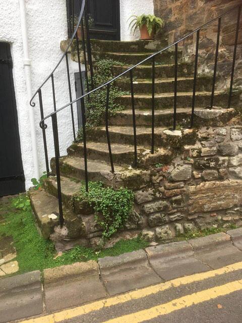 Malerischer Treppenaufgang