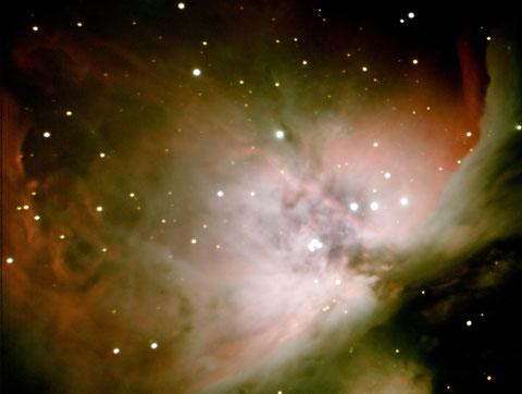 Messier M42 - Komposit aus 10x8s, 10x30s, 10x80 und 5x300s, -15Grad, ungebinnt, Fullframe - mit Darks, ohne Flats - 12.01.2015