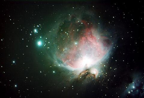 Messier M42 - 15x60s, -15Grad, 2x2 binning, Fullframe - mit Darks, ohne Flats - 29.01.2016