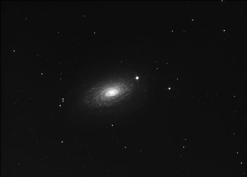 M63 Sonnenblumengalaxie am 29. April 2017 - 12x600s, ungebinnt, -25Grad Celsius, mit Darks und Flats