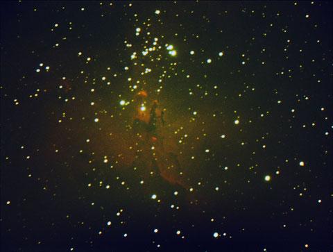 Messier M16 - 7x300s, -6 Grad, 2x2 binning, ohne Flats, ohne Darks - 26.09.2014