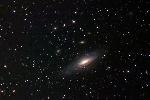 Die Galaxie NGC7331 - LUM 10/2017, RGB 10/2017 und 12/2016