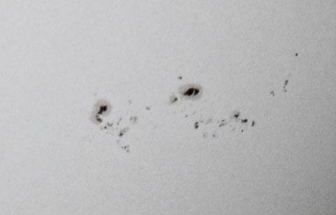 Sonnenflecken am 27. September 2014 - Nahaufnahme
