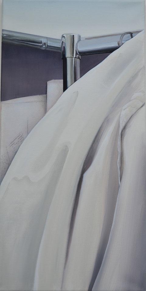 Andrea Ridder, Faltenwurf, 2017, Acrylmischtechnik, 30 x 60 cm