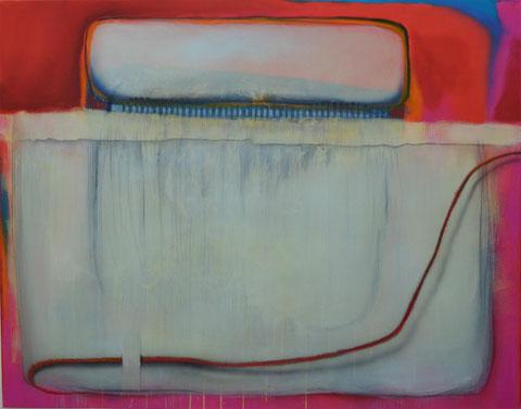 Andrea Ridder: ligne rouge, 13-01-03, 110 x 140 cm