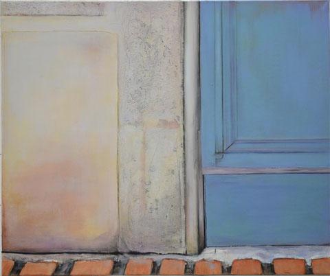 Andrea Ridder: O.T.16_10_17, Acrylmischtechnik auf Leinwand, 100 x 120 cm, 2016