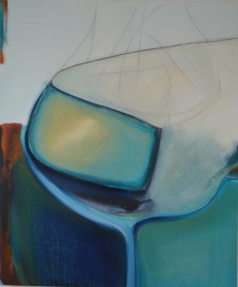 Andrea Ridder: 13-04-12, Öl auf Leinwand, 120 x 100 cm