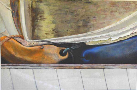 Andrea Ridder: Boat, 2011, Acrylmischtechnik, 150 x 230 cm