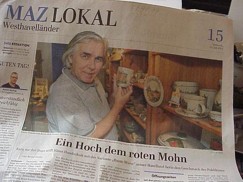 Presse vom 16.7.2014 / Märkische Allgemeine - Westhavelländer