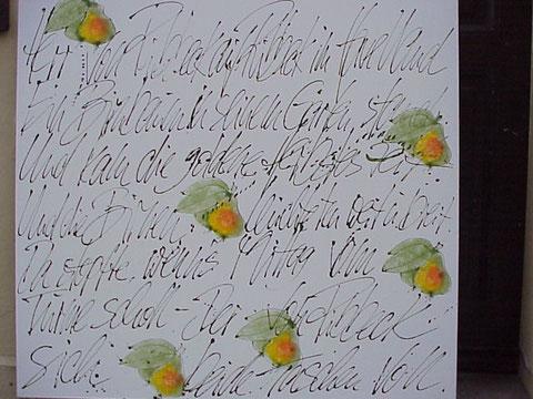 """""""Ribbecker Birnen"""" Acryl auf Leinwand, 120 x 110 cm. Auftragsarbeit - verkauft."""