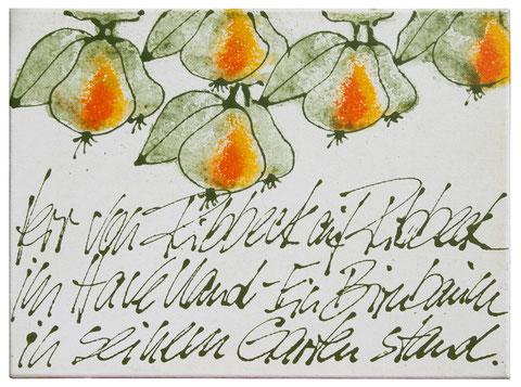 """""""Ribbecker Birnen"""", Acryl auf Leinwand, 80 x 100 cm, Preis auf Anfrage"""