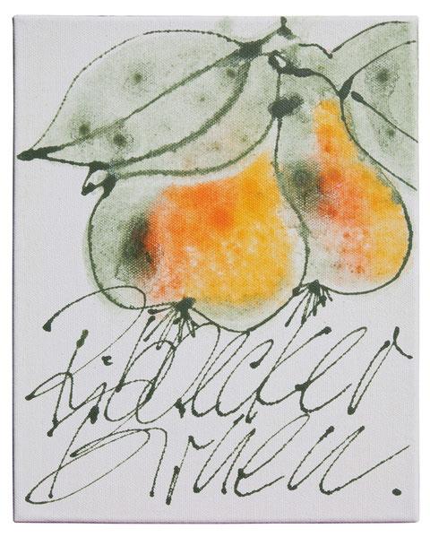"""""""Ribbecker Birnen"""", Acryl auf Leinwand, 40 x 30 cm, Preis auf Anfrage"""