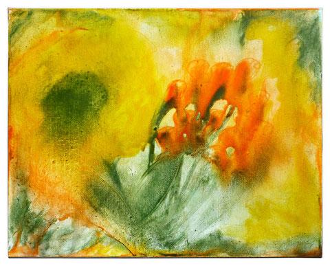 """Mohn 3"", Acryl auf Leinwand, 80 x 100 cm,    Das Bild ist verkauft."