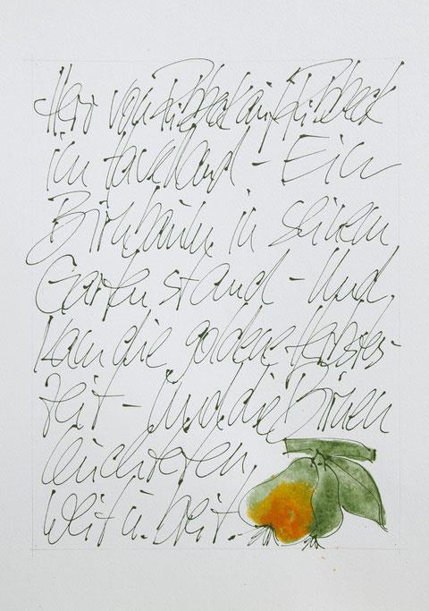 """""""Ribbecker Birnen"""", Acryl auf Karton, Passepartout 50 x 60 cm, Preis auf Anfrage"""
