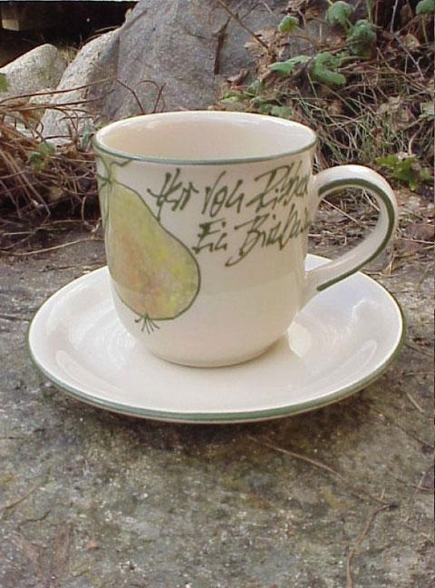 Kaffee/Teepott, mit Untertasse | 22,50 Euro