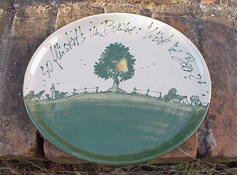 Ovale Platte, 27 x 28 cm | 45,50 Euro