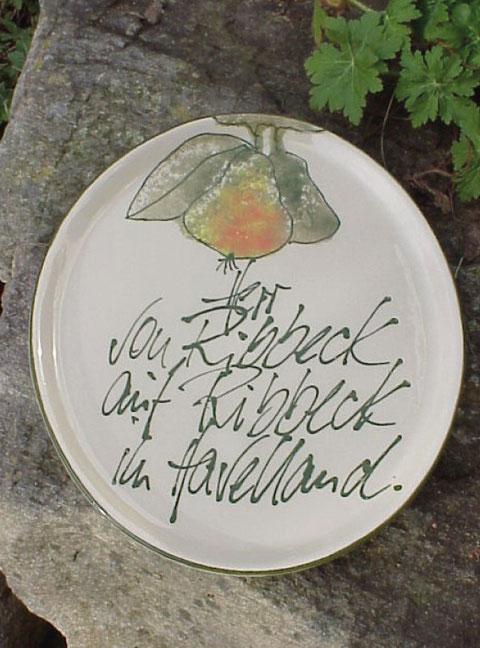 Ovale Platte = 27,5 x 23,5 cm | 34,50 Euro
