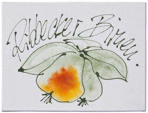 """""""Ribbecker Birnen"""", Acryl auf Leinwand, 18 x 24 cm, Preis auf Anfrage"""