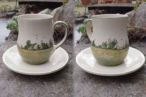 Kaffee/Teepott, mit Untertasse | 24,50 Euro