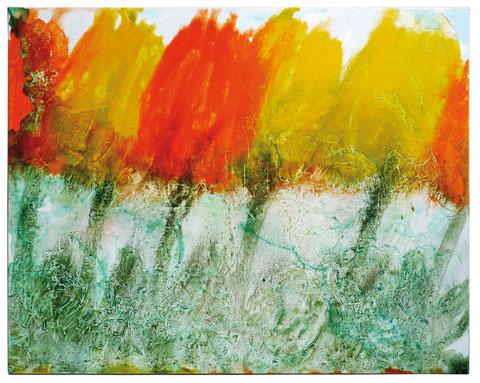 """""""Tulpen"""", Acryl auf Leinwand,  80 x 100 cm. Das Bild ist verkauft."""