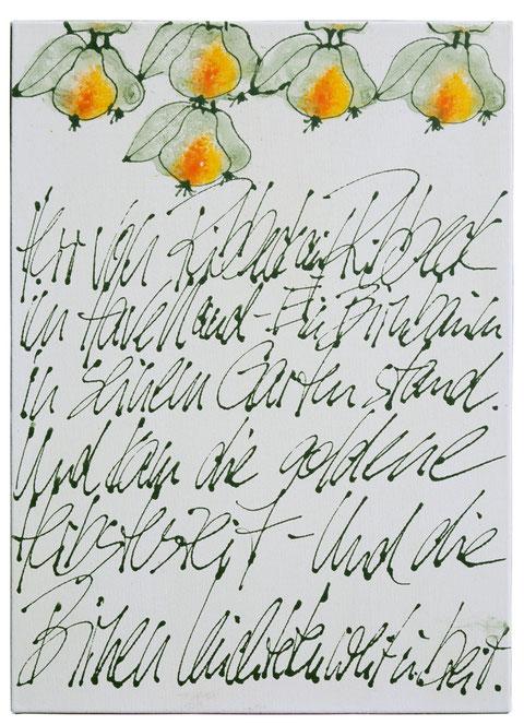 """""""Ribbecker Birnen"""", Acryl auf Leinwand, 50 x 70 cm, Preis auf Anfrage"""