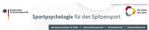 Bild von der Seite: BISP Sportpsychologie