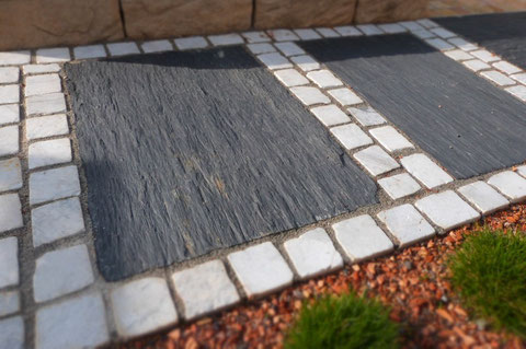 Schiefer Bodenplatten Sichtschutzelemente Terra Domo Filderstadt