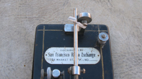 * San Francisco Radio Exchange plate