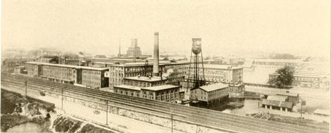 Immagine d'epoca di una parte del polo Industriale di Bridgeport.