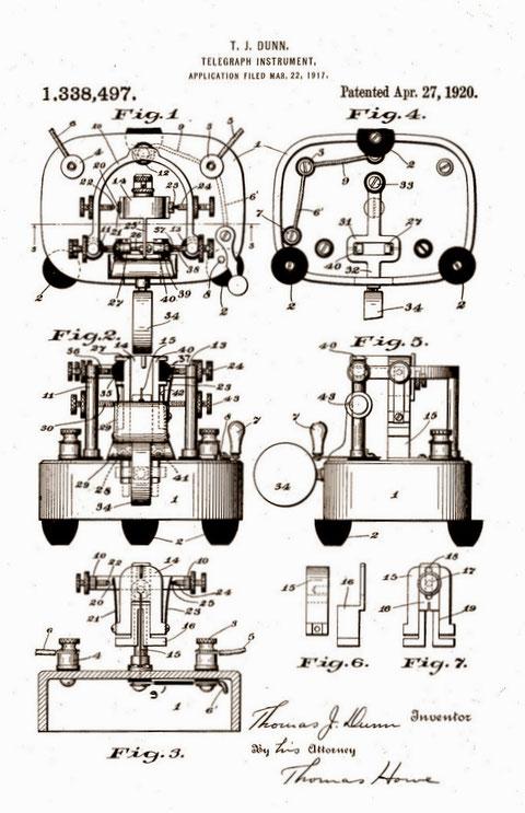 Thomas Dunn patent for National Transmitter
