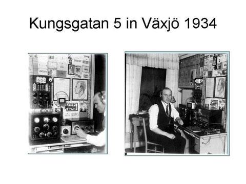 Mr Sture Jönsson SM7XY nel suo schack 1934.