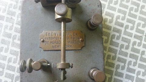 Early Martin Vibroplex, Nichel plate - Particolare etichetta mod. A1