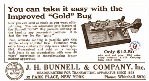 Early Gold Bug advertisement show the new knob adjust system