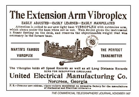 Pubblicità d'epoca sull'adozione del braccio stabilizzatore nelle basi sottili.