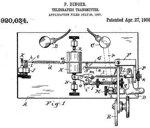D&K Key monolever Patent - 1909.