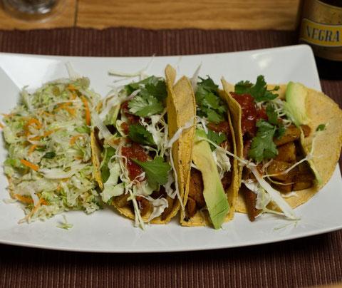 Chipotle, Potato & Seitan Tacos with Salvadoran Slaw ...