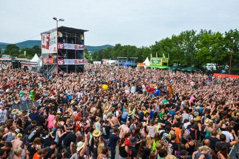 Festivalgelände mit FOH