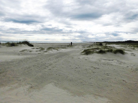 Sandstrand neben dem Fähranleger in Hirtshals