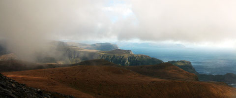 Am Westkap: die Wolken reißen kurz auf.