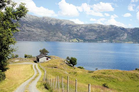 Ankunft in Haukanes auf Varaldsøy