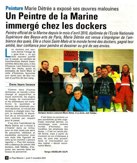 Le Pays Malouin nov.2010 Serge Asselah