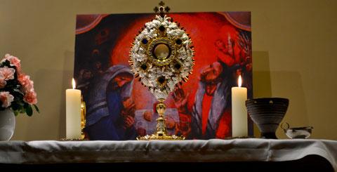 Anbetung beginnt in der Kapelle des Marienkrankenhauses am 14.09.2012