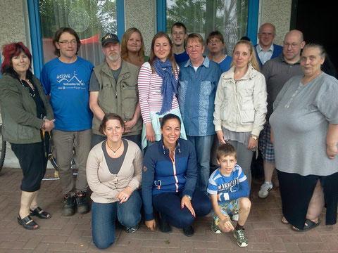 Abschied von unserer Bundesfreiwilligen und Foto der Helfergruppe im August 2014