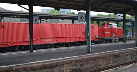 Rettungszug in Kassel, Hauptbahnhof Gleis 12