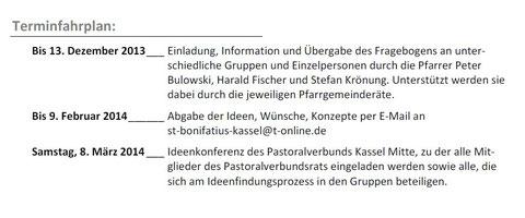 Überlegungen zur Zukunft des Pastoralverbunds Kassel Mitte