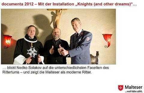 Malteser aus Kassel und Ministranten aus Sankt Laurentius sind dabei - Details im Brüder-Grimm-Museum bei der Installation von Nedko Solakov in Kassel