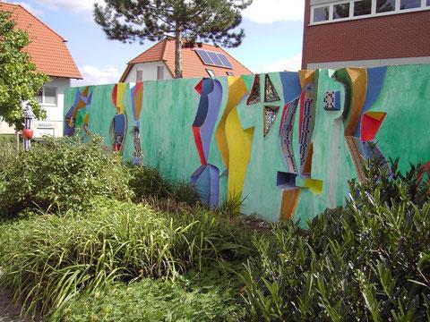 Kunst am Bau mit Schülern - Roswitha Farnsworth