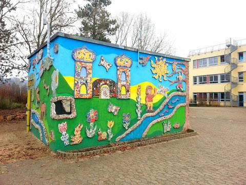 Kunst am Bau mit Schülern