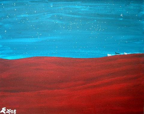 Der Wüstenritt, 2008 (Acryl auf Leinwand, 30x40)