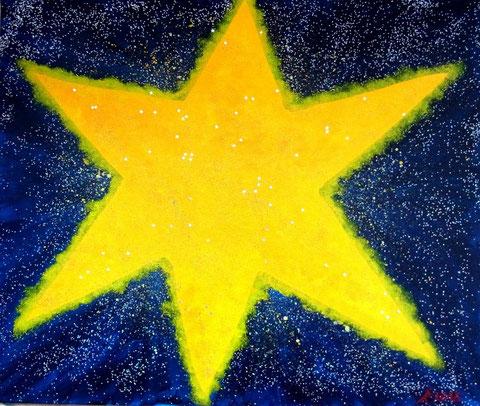 Der Stern, 2016 (Acryl auf Leinwand, 50x60)